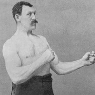 who is the overly manly man