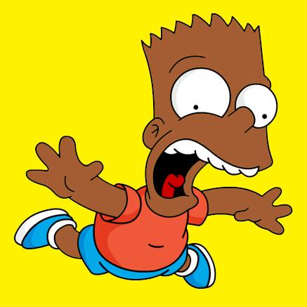 Simpson Black Character Black Bart Simpson