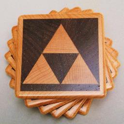 1337motif is an Indianapolis-based woodworker specializing in geek-themed cutting boards and coasters.