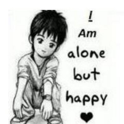 I Am Alone But Happy Boy alone but happy (@alon...