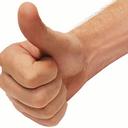Thumbs up reasonably small