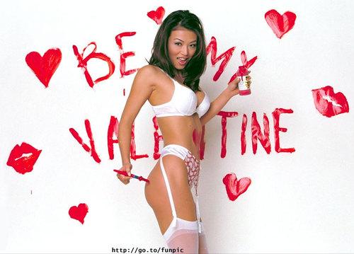 Nude Blond Big Boobs Ladykashmir Happy Valentines Day Canvas Print By Ladykashmirgoddess