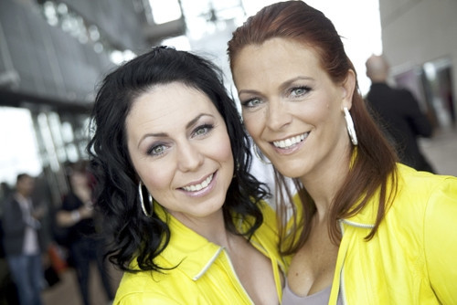 Photo of Kristel Verbeke & her friend