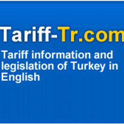 Customs Tariff of TR on Twitter: