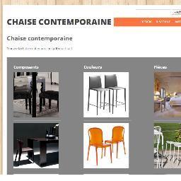 chaise contemporaine chaisecontemp twitter. Black Bedroom Furniture Sets. Home Design Ideas