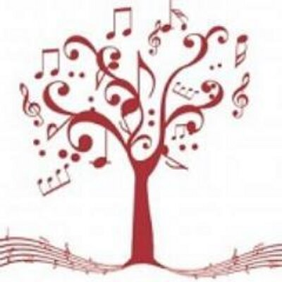 A tree made of music notes.