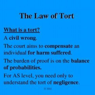law of tort and law of Looking for books on tort law check our section of free e-books and guides on tort law now this page contains list of freely available e-books, online textbooks and tutorials in tort law.