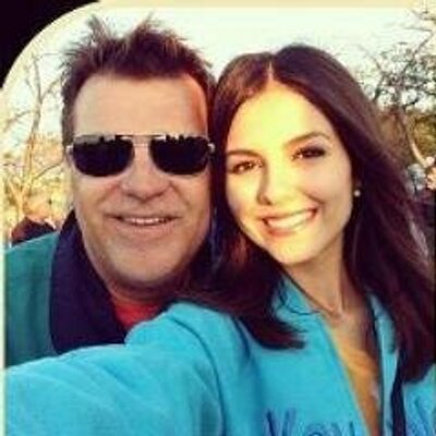 Photo of Victoria Justice & her Father  Zack Justice
