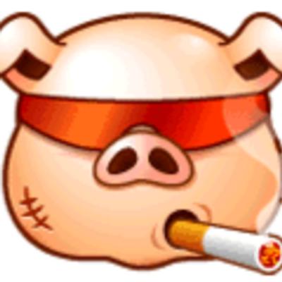 Картинка свиньи курящей
