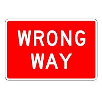 wrong way sign wrongwaydouche twitter