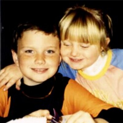 Photo of Chris Colfer & his  Sister  Hannah Colfer