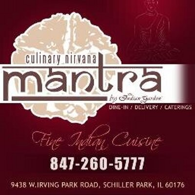 Mantra Restaurant On Twitter Indian Garden Chicago Features On