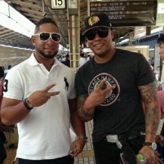 Photo of Andruw Jones & his friend