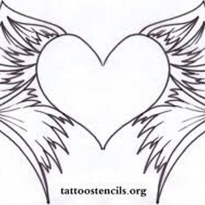 heart with wings coloring page free printable coloring pages - 1024×724