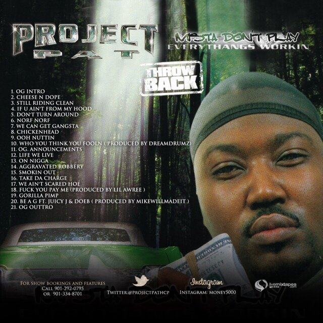 project pat mista dont play Find product information, ratings and reviews for project pat - mista don't play 2:everythangs money [explicit lyrics] (cd) online on targetcom.