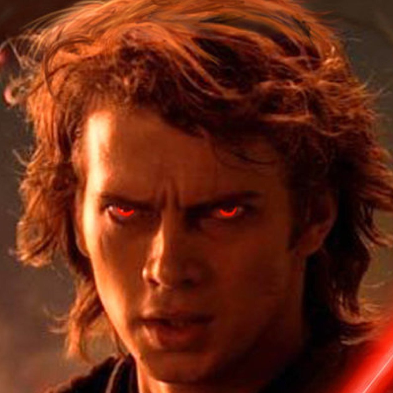 Image result for anakin skywalker red eyes