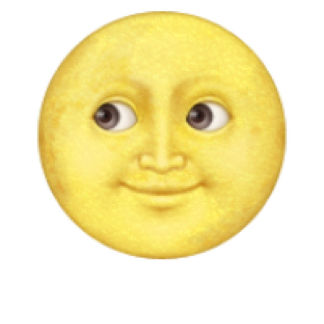 yellow moon emoji - photo #1
