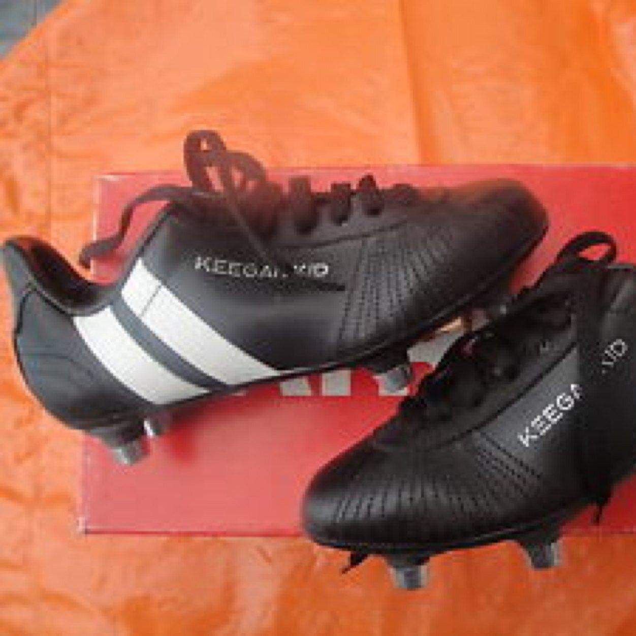 footy boots were Patrick Keegan Kid