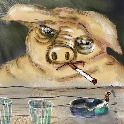 свинка с сигаретой картинки этого