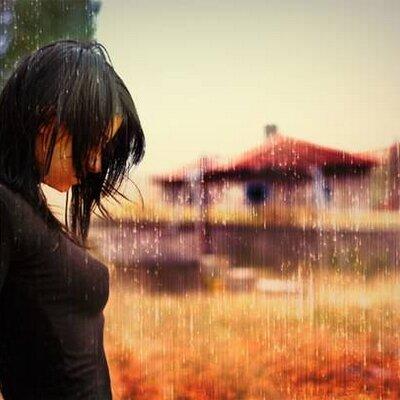 девушка под дождём картинки сильные