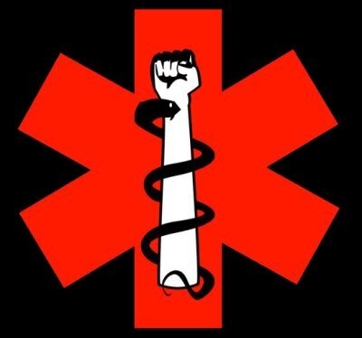 One version of the street medic logo