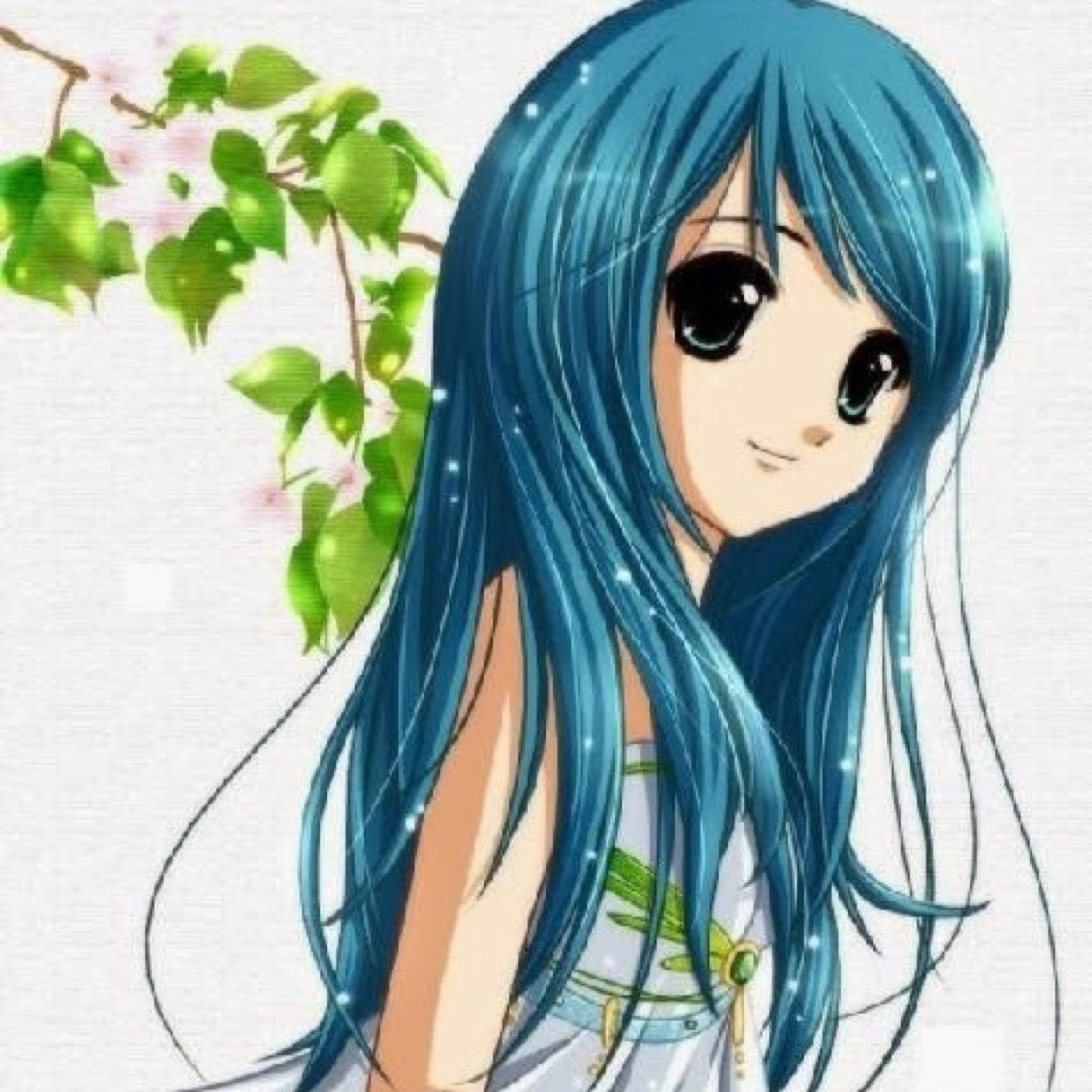 An Anime Character With Blue Hair : Cintjuuh nonstopxx twitter