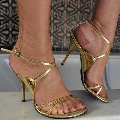 Something is. Ultra sheer nylon feet