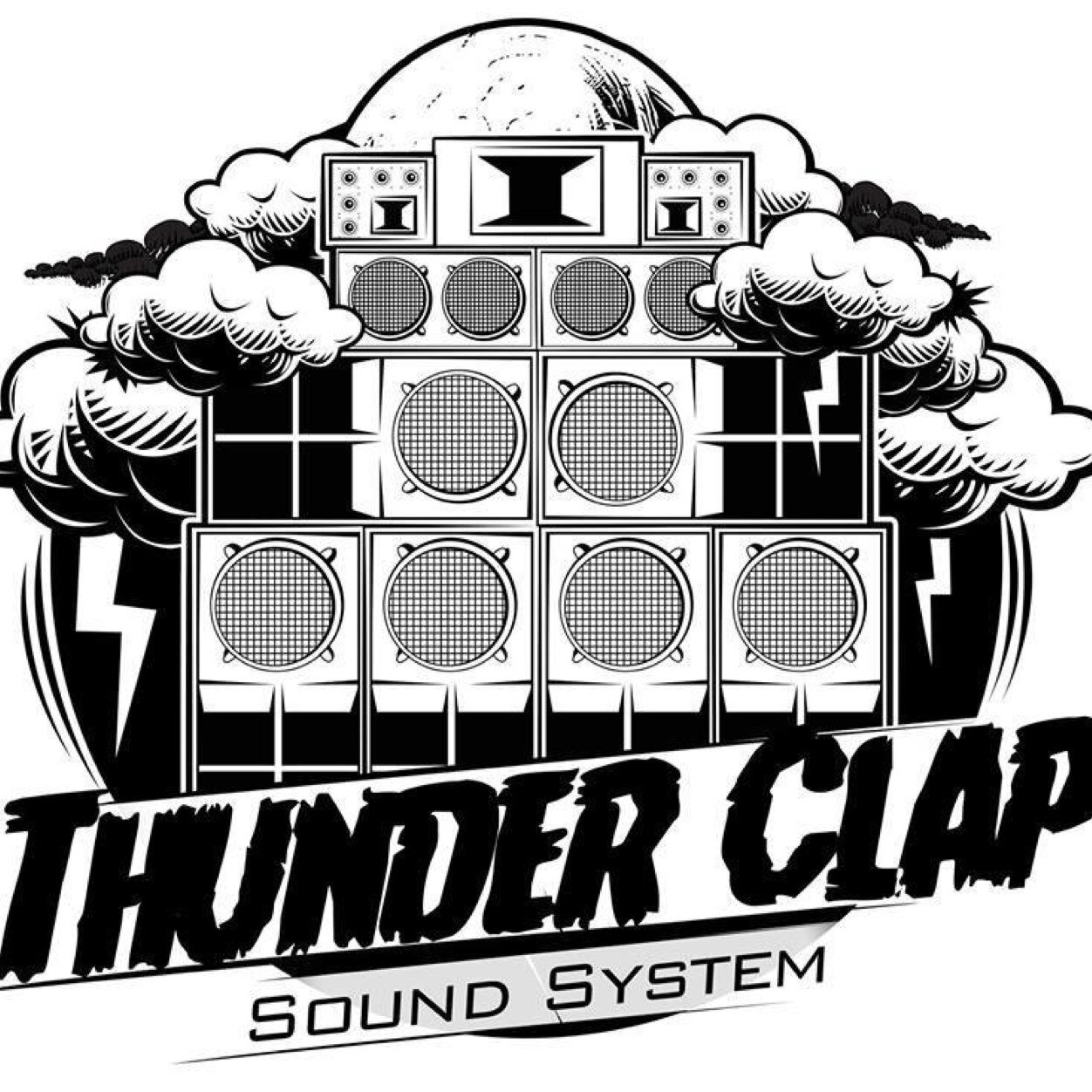 sound system clipart. thunder clap sound system clipart
