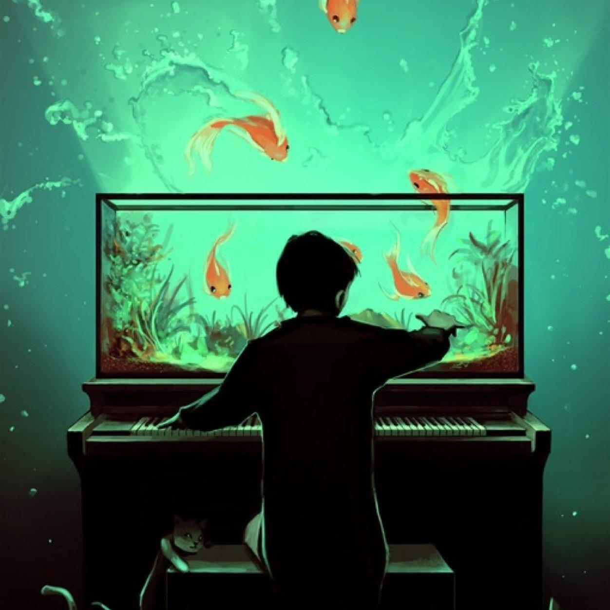 Fish tank drawing pictures - Blah