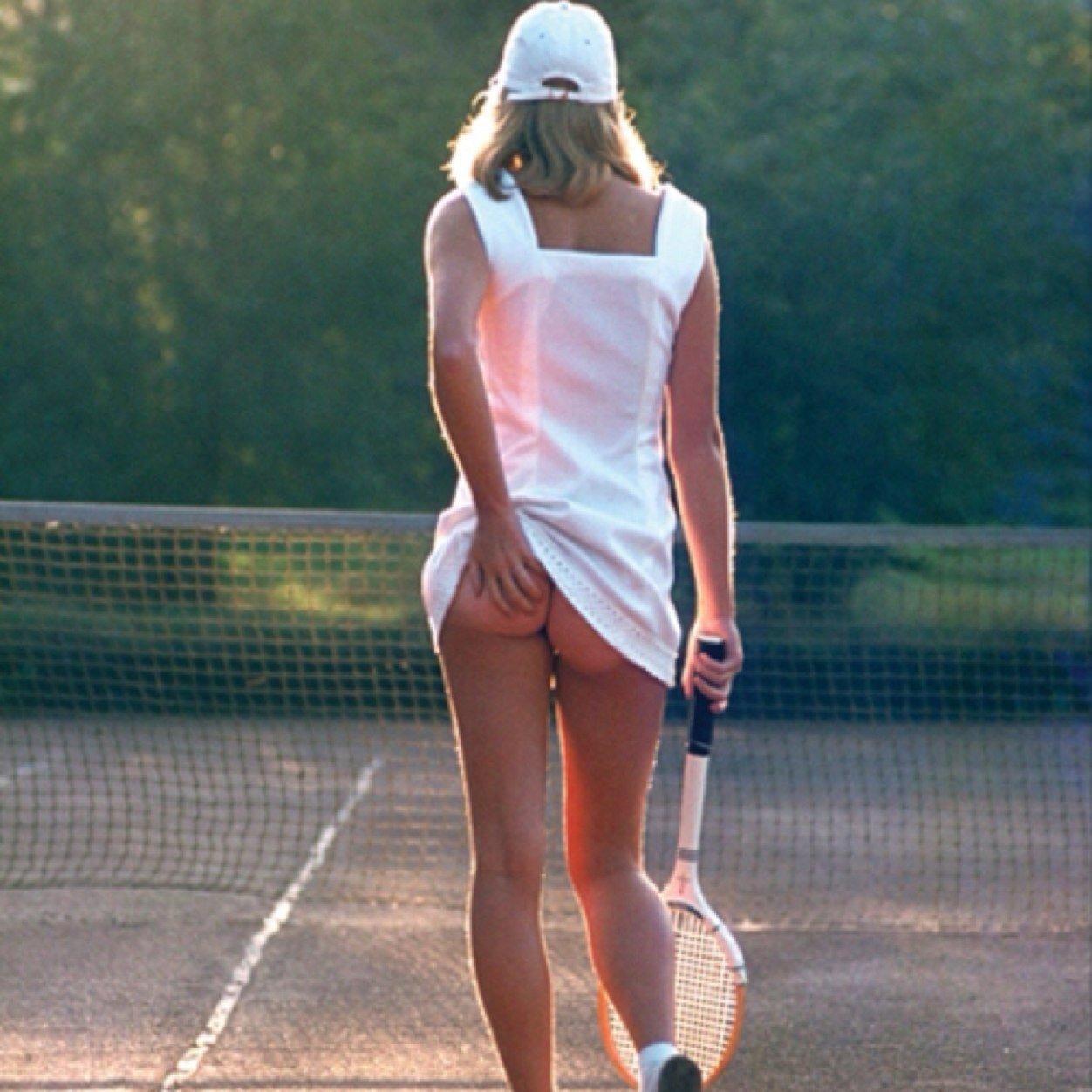 hot blonde naked in tennis wear