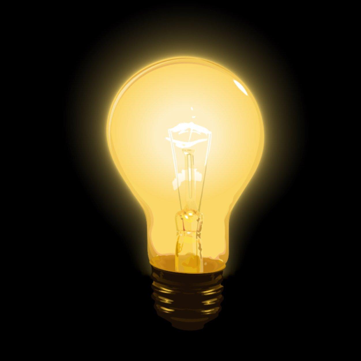 картинка светится как лампочка удача тоже ждёт