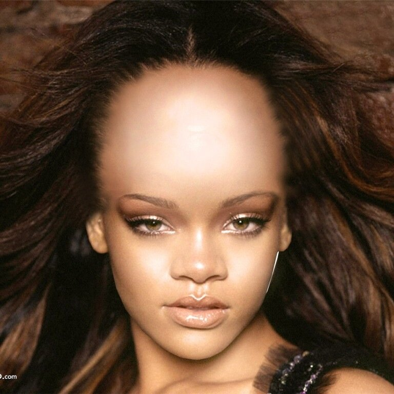 how to make big forehead photoshop
