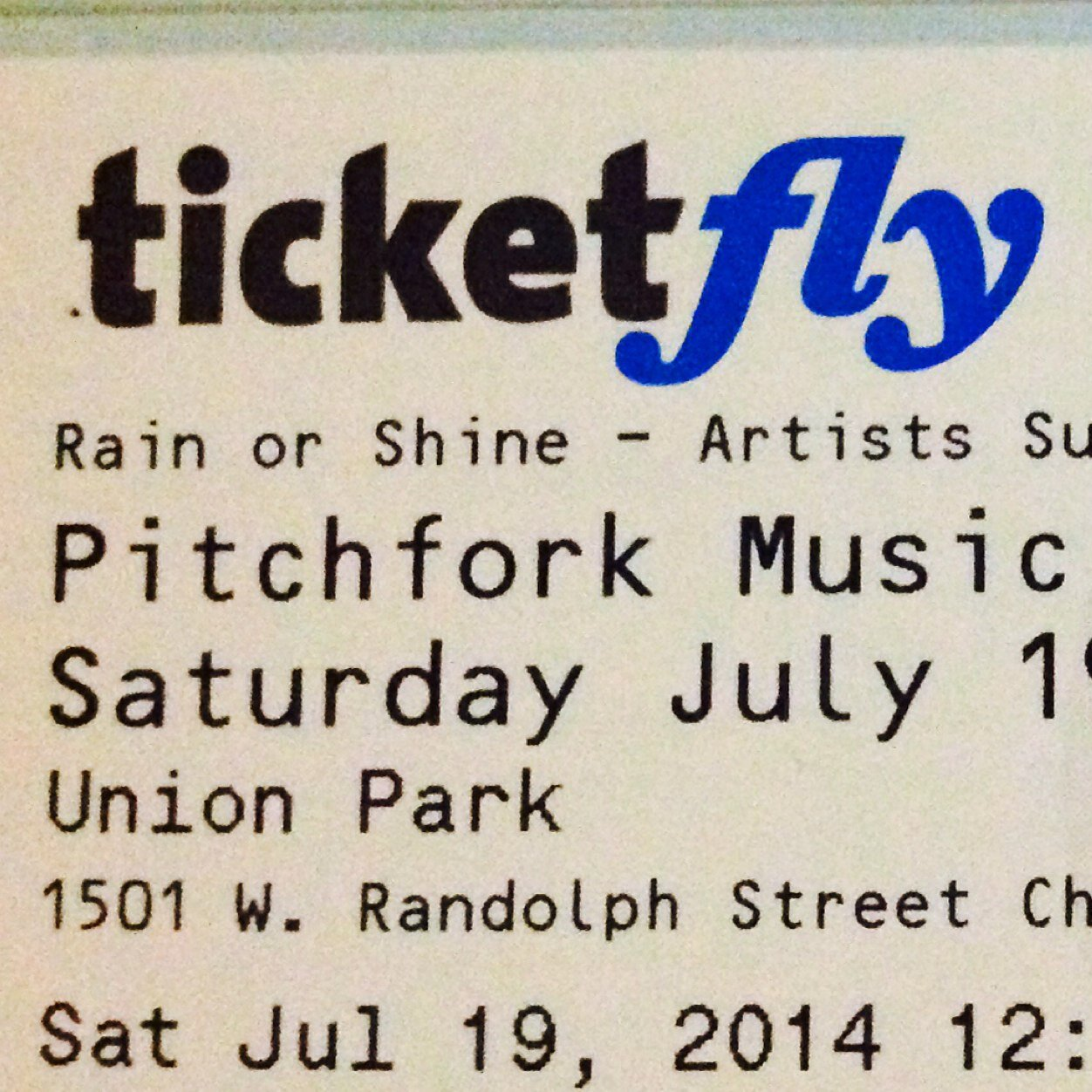 Pitchfork tickets