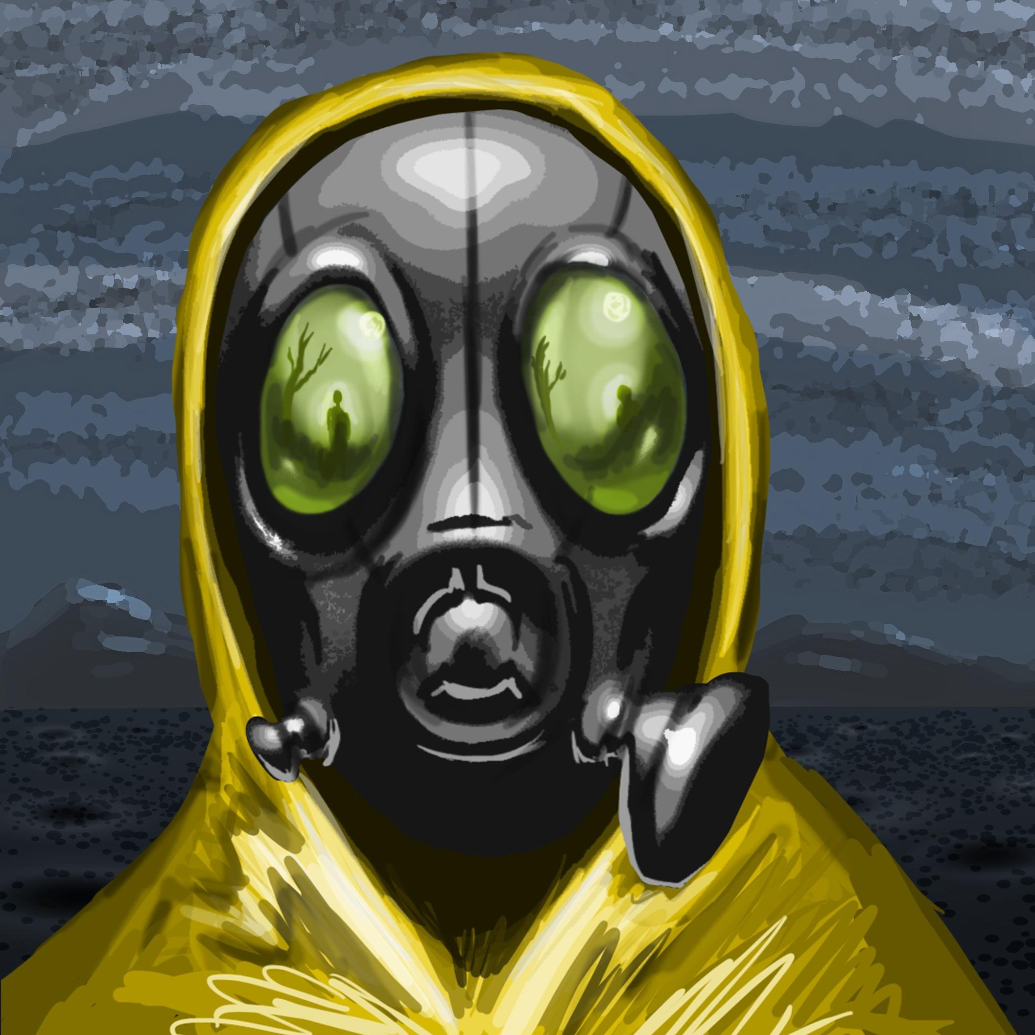 how to draw a hazmat suit