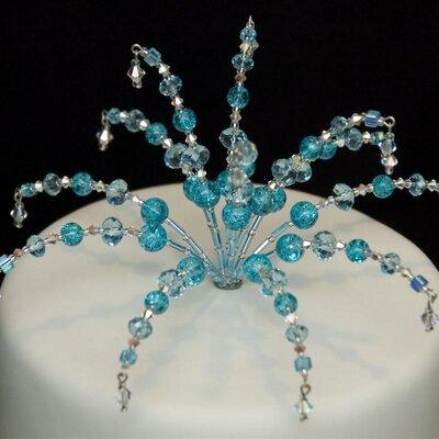 Crystal Wedding Cake Toppers Uk
