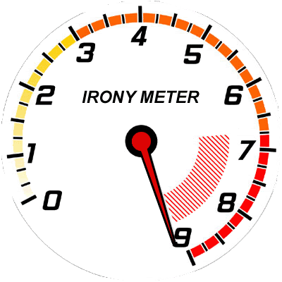 Image result for irony meter