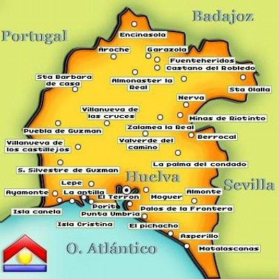 Pueblos De Huelva Mapa.Pueblos De Huelva On Twitter Aracena Http T Co Kv5lgtrfue