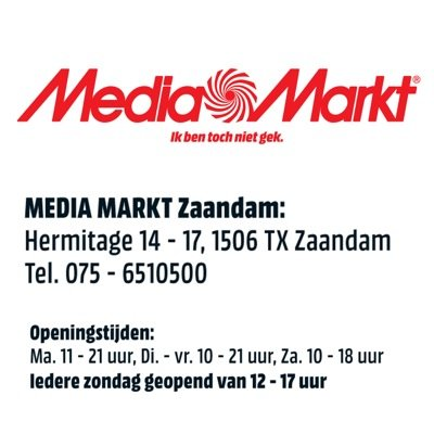 media markt zaandam mediamarktzaa twitter. Black Bedroom Furniture Sets. Home Design Ideas