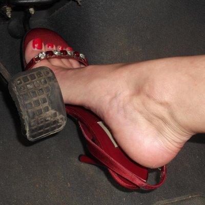 Late, than pretty feet in heels