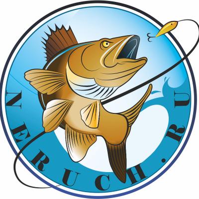 значок рыболова рыбака