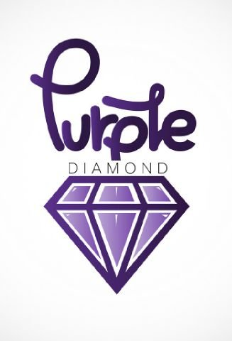 diamond reflection with background white purple on drawing