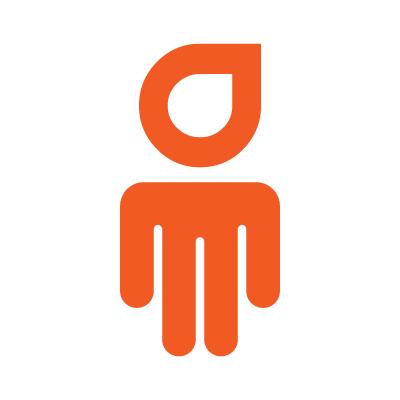 Marca da Pictorama - uma representação de um boneco a traço com a cor laranja