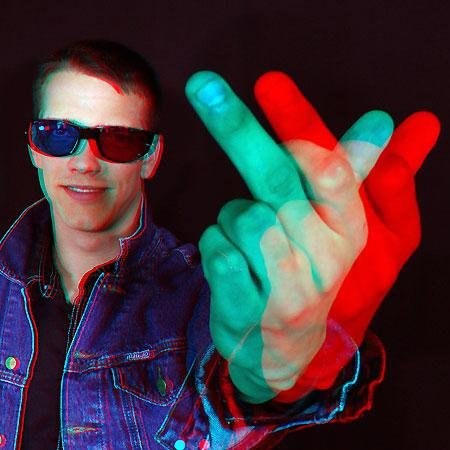 3d striptease girl anaglyph glasses 3