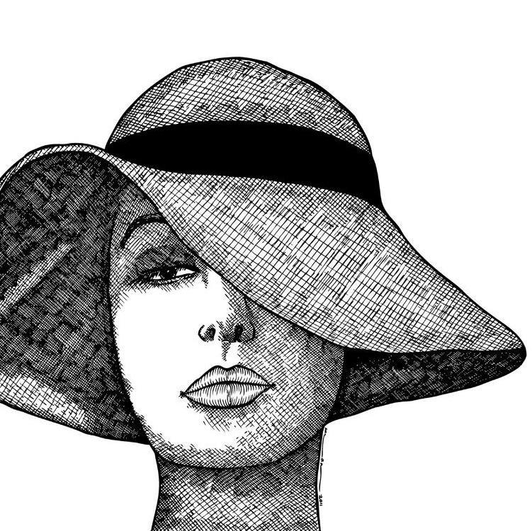 человек в шляпе картинки карандашом выносных