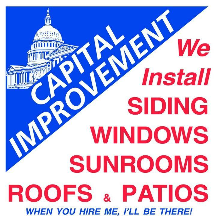 capital improvement Call capital improvement for siding, windows, sunrooms, patios & lattice.