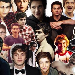 Hot guys collage