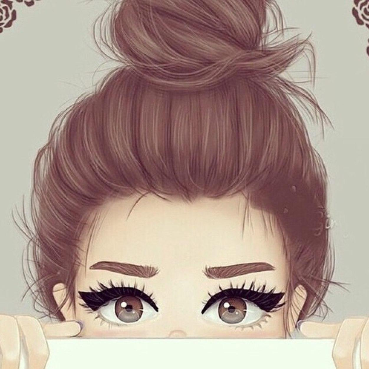 Картинка девочка с ресницами