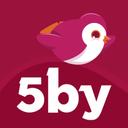 Follow us @5by (@5byrocks) Twitter