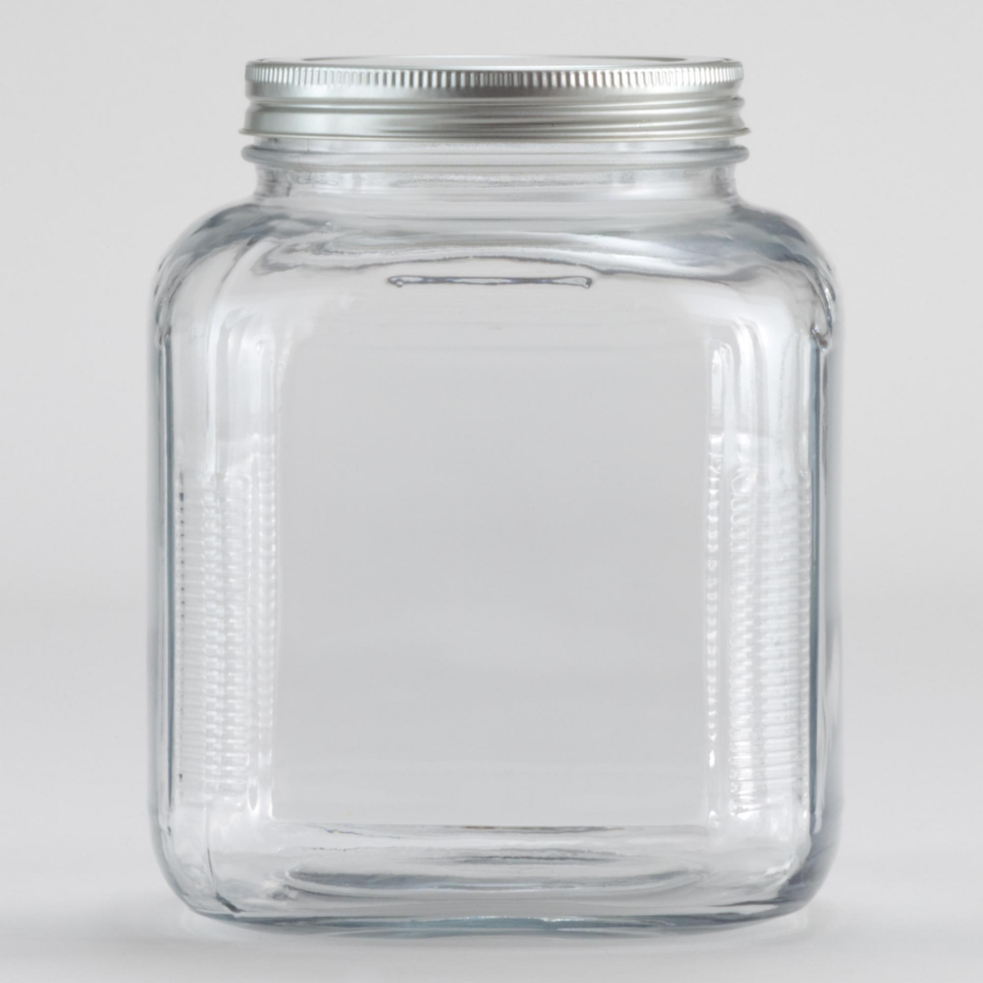 Glass Storage Jars. Showing 40 of results that match your query. Search Product Result. Product - Kerr Wide Mouth Half-Pint Glass Mason Jars with Lids and Bands, 8 oz., 12 Count. Product Image. Price $ 8. Product Title. Kerr Wide Mouth Half-Pint Glass Mason Jars with Lids and Bands, 8 .