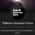 Website Value Tool